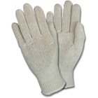 Safety Zone Work Gloves - Thermal Protection - Medium Size - Polyester Cotton - Natural - Lightweight, Knitted - For Packaging - 12 / Dozen
