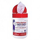TB Minuteman NEXGEN Disinfectant Wipes 160/Tub