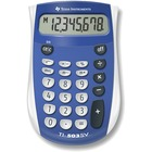 "Texas Instruments TI503 SuperView Pocket Calculator - 8 Digits - LCD - Battery Powered - 0.7"" x 3.1"" x 4.8"" - Blue, Gray - 1 / Each"