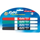 Sanford Expo Low-Odor Dry Erase Fine Tip Markers - Fine Marker Point - 4 / Set