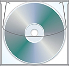 CD/DVD Vinyl Sleeve with Adhesive Back PK/50